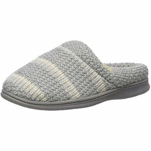 Dearfoams Light Grey Knitted Slipper Women